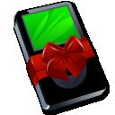 ipod black gift icon