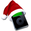 ipod black santaclaus icon