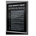 Zero Gravity Toilet Safety Instructions icon