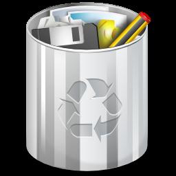 Status user trash full icon