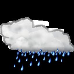 Status weather showers icon