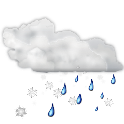 Status weather snow rain icon