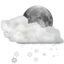 Status weather snow scattered night icon