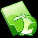 folder penguin icon